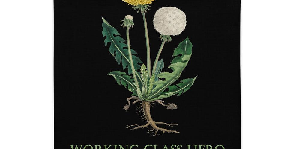 Working Class Hero Dandelion Pillow Case