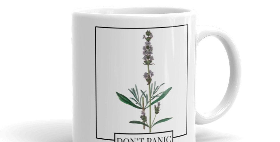 DON'T PANIC Lavender Mug