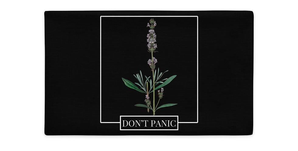 DON'T PANIC Lavender Premium Pillow Case