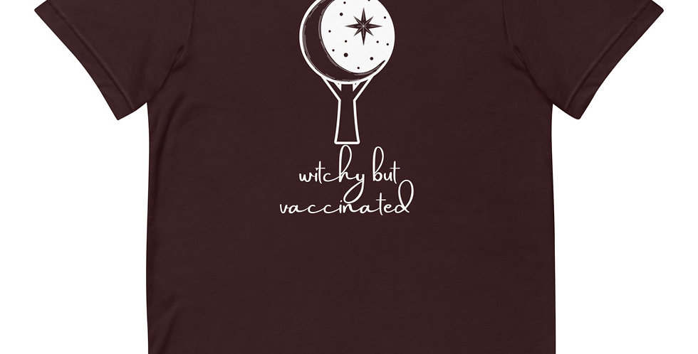 Witchy But Vaccinated Moon Tree Tee