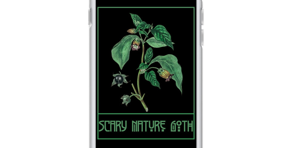 Scary Nature Goth Belladonna iPhone Case