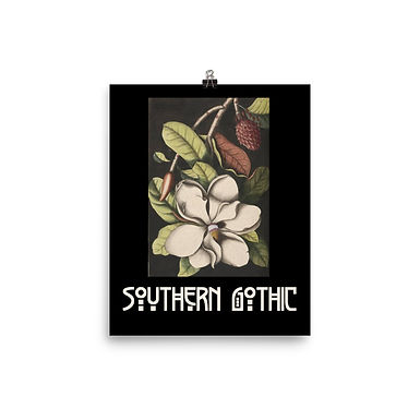 Southern Gothic Magnolia Poster