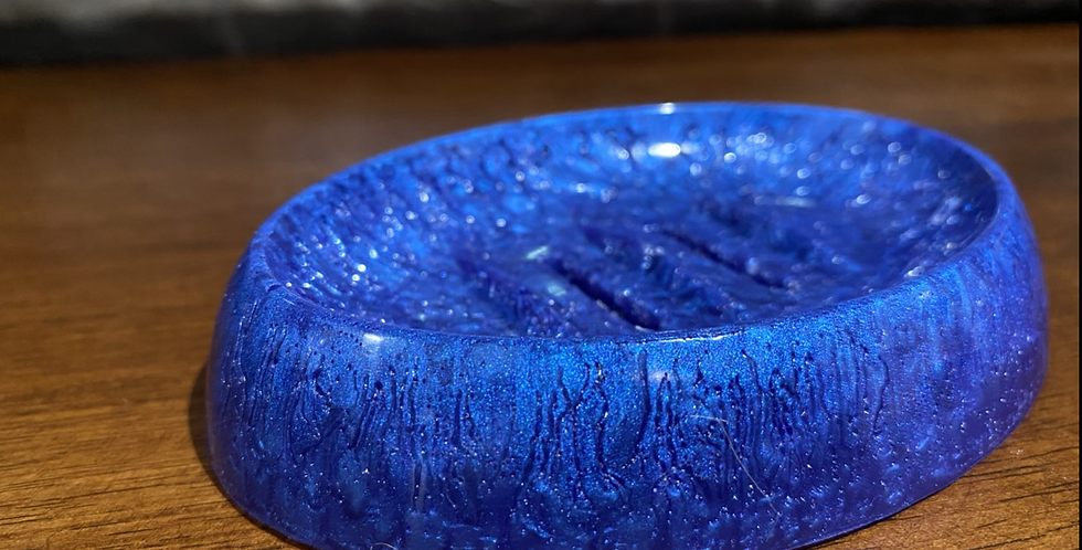 Moonflower Cottage Resin Soap Dish—Oval