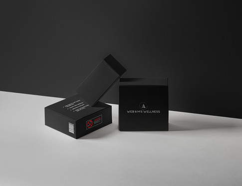 Web & M's Wellness Product Packaging