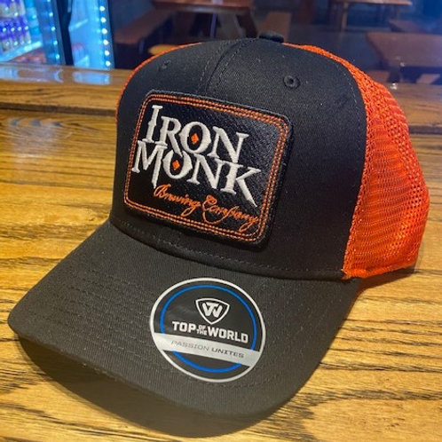 Iron Monk Black and Orange Trucker