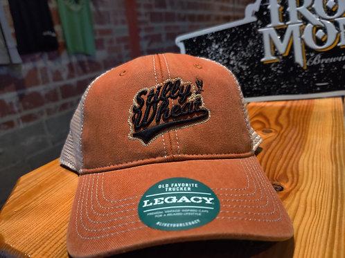 Stilly Wheat Orange Trucker Hat