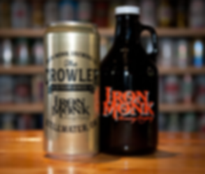 Iron Monk Brewing Company Tap Room Growlers & Crowlers