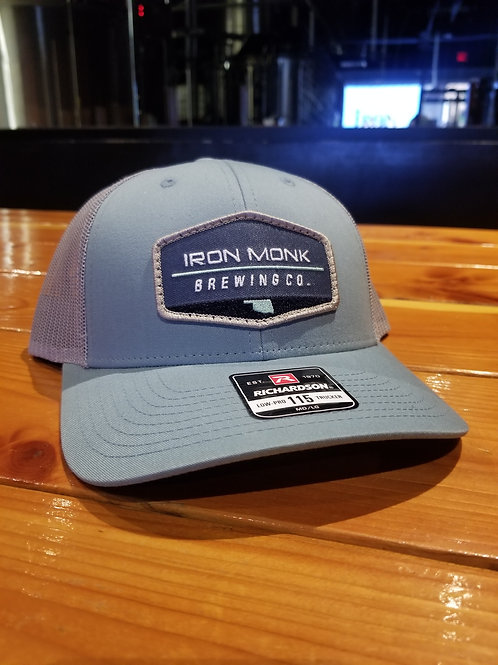 Teal front, Grey back Low-Pro Trucker