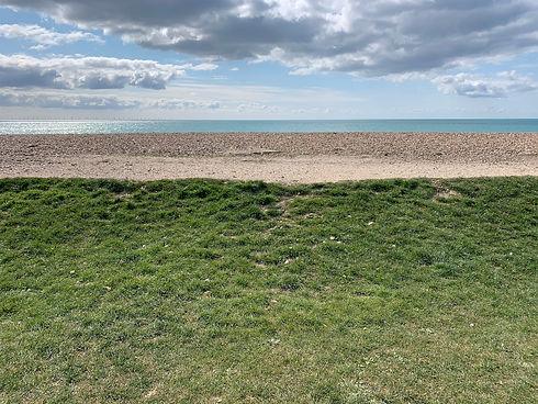 Grass, beach, sea, sky, from East Presto