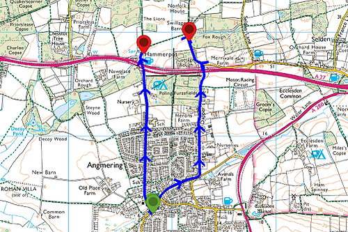 Getting to Angmering Park on foot