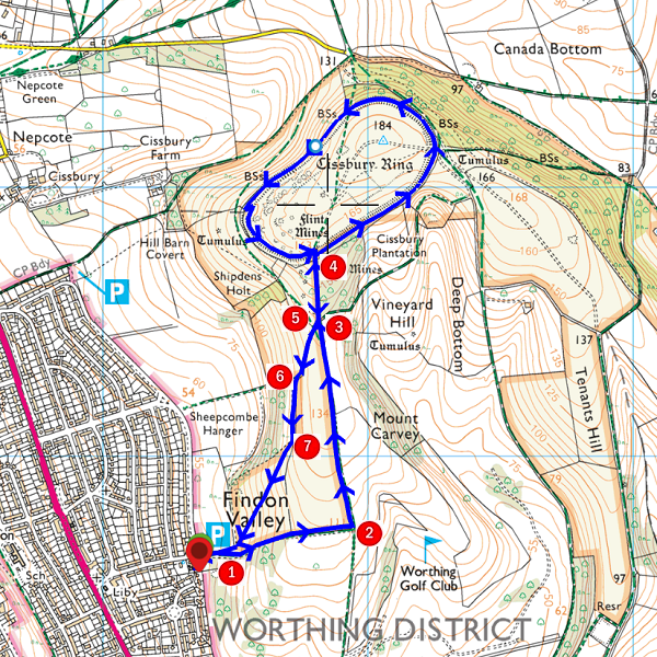 Walk - Cissbury Ring - MAP.PNG