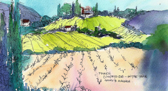 FRANCE_SKETCH_Provence_Fields_72dpi