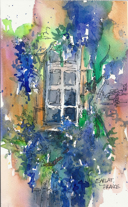 FRANCE_SKETCH_Sarlat_Window_72dpi