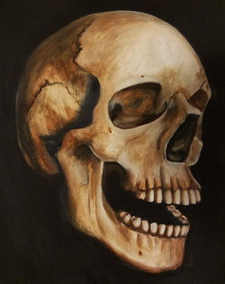 """Alla Prima Painting Human Anatomical Study Oil on Canvas Panel Dimensions: 16"""" x 20"""""""