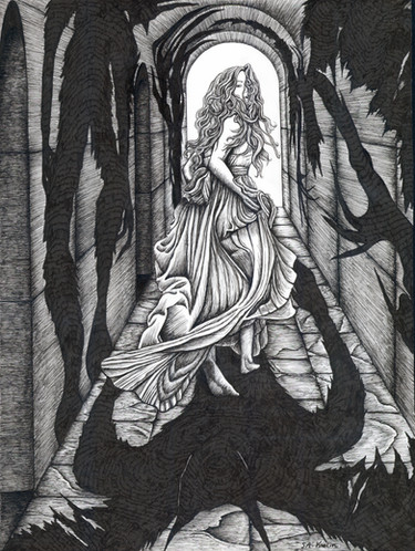 """Pen & Ink on Copic Marker Paper,Dimensions: 11"""" x 14"""" The Ghastly Affair, Player's Manual  The Ghastly Affair, Presenter's Manual"""