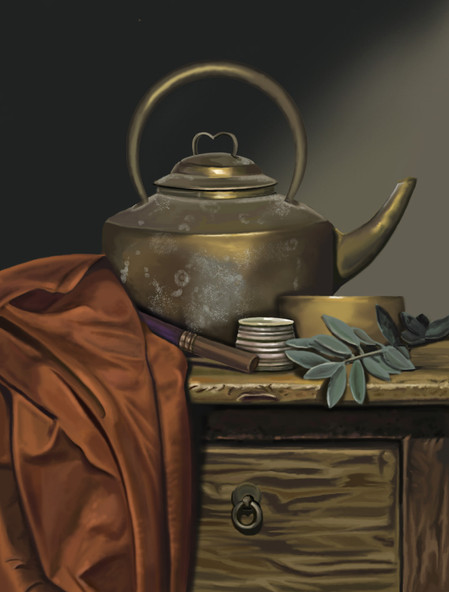 Class Demo - Painting Still Life based on reference image