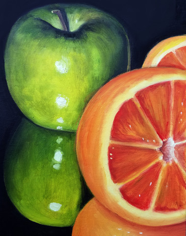 "Alla Prima Painting Still Life Oil on Canvas Panel Dimensions: 16"" x 20"""