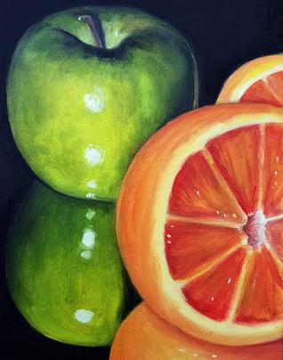 "Alla Prima Painting Still Life Oil on Canvas Panel Dimensions: 16"" x 20"""