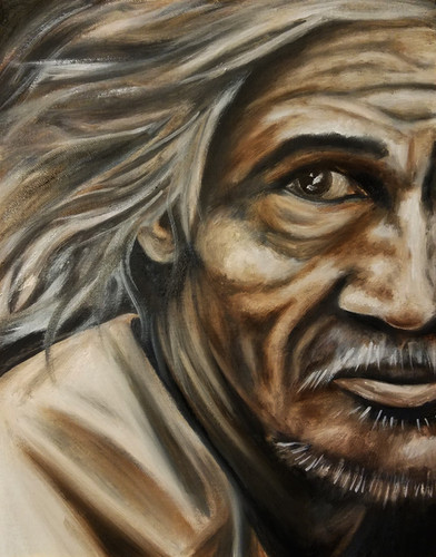 "Alla Prima Painting Portrait of a Man Oil on Canvas Panel Dimensions: 16"" x 20"""