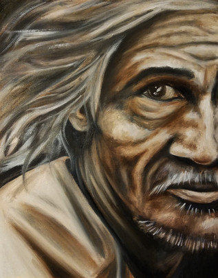 """Alla Prima Painting Portrait of a Man Oil on Canvas Panel Dimensions: 16"""" x 20"""""""