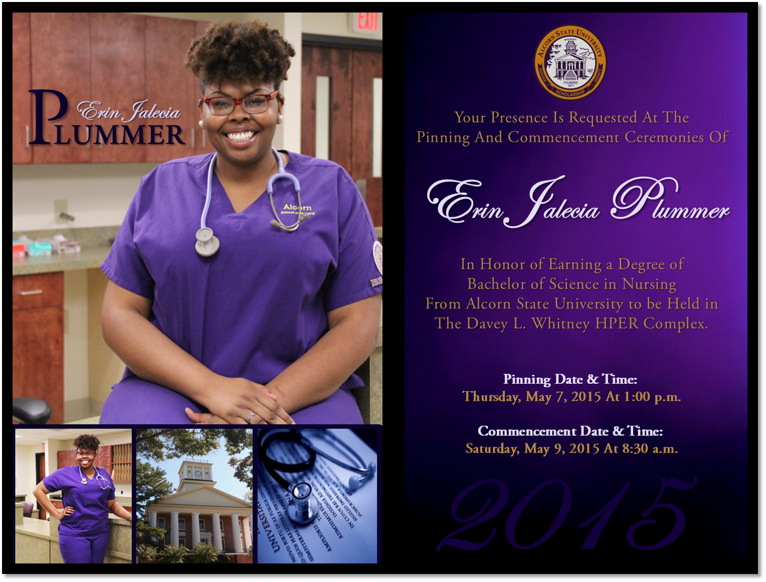 Erin Plummer. Official Graduation Invitation