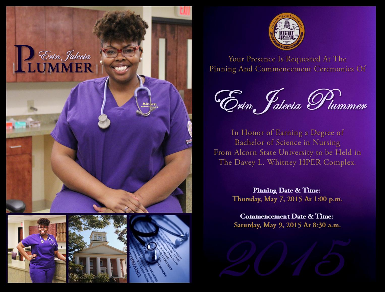 Erin Plummer. Official Graduation Invitation