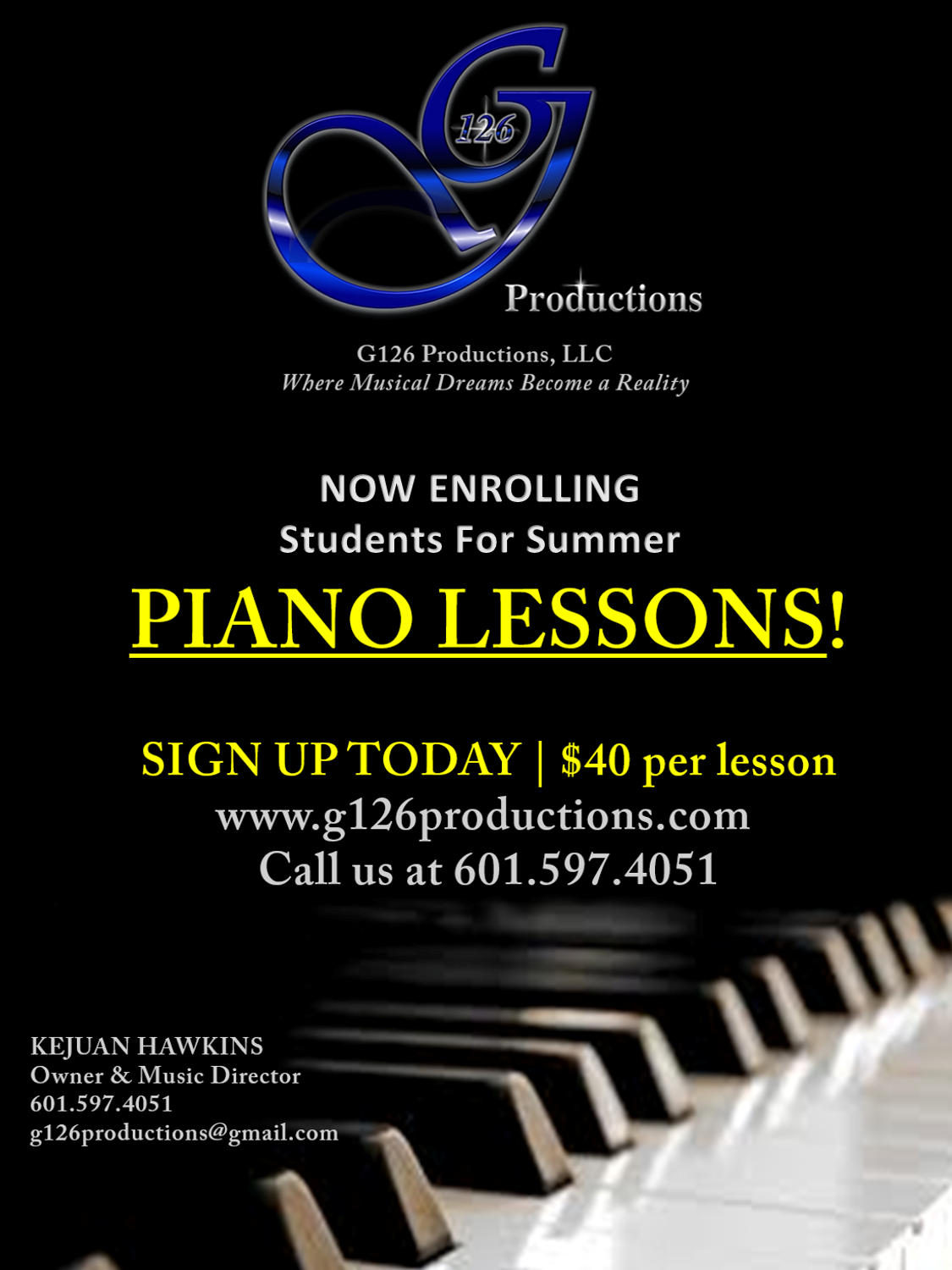 PIANO LESSONS.Summer