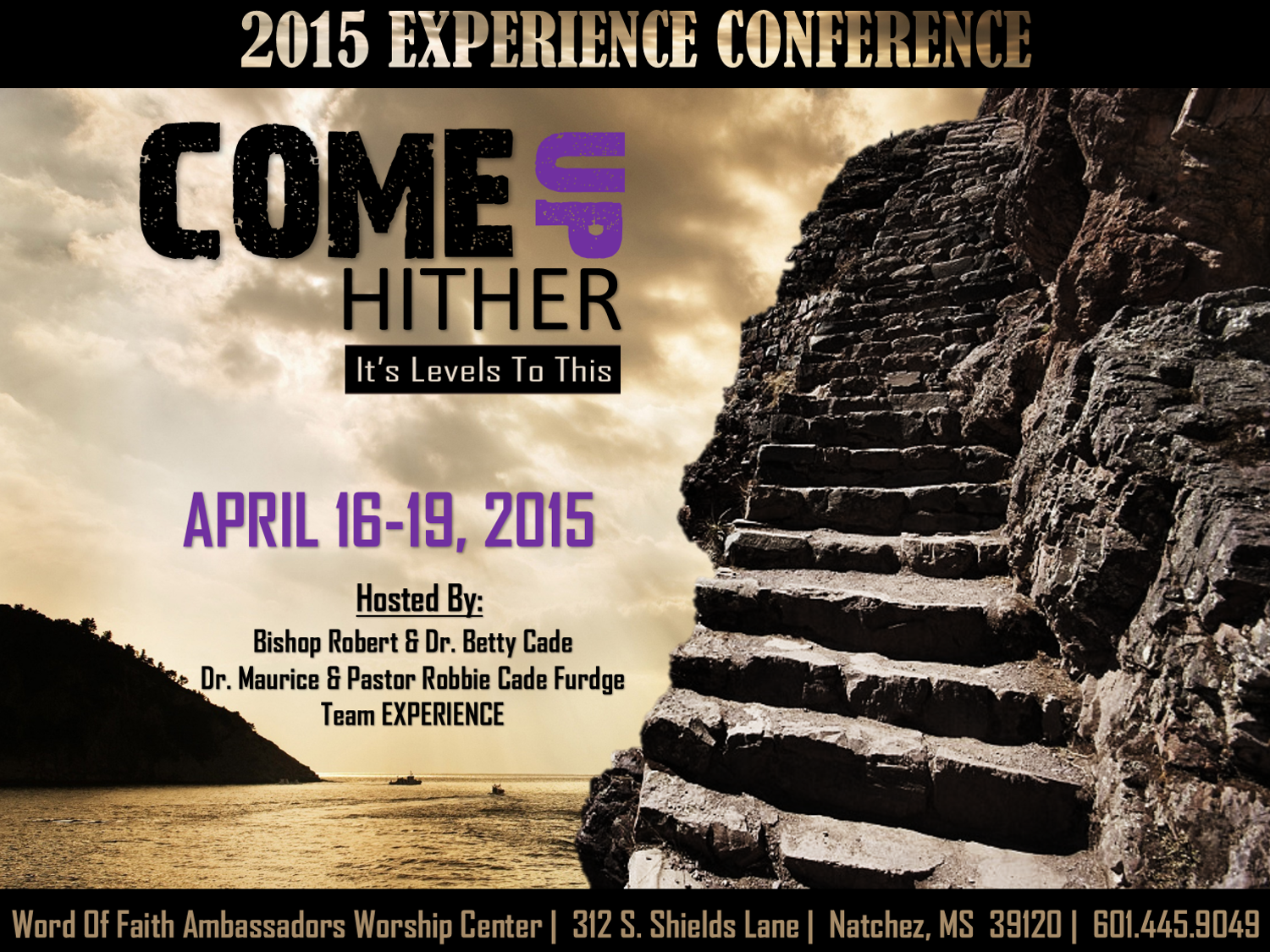 EXPERIENCE CONFERENCE.COME UP HITHER.FLYER