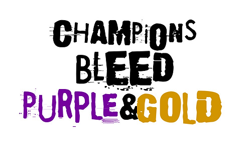 Champions Bleed Purple and Gold tshirt
