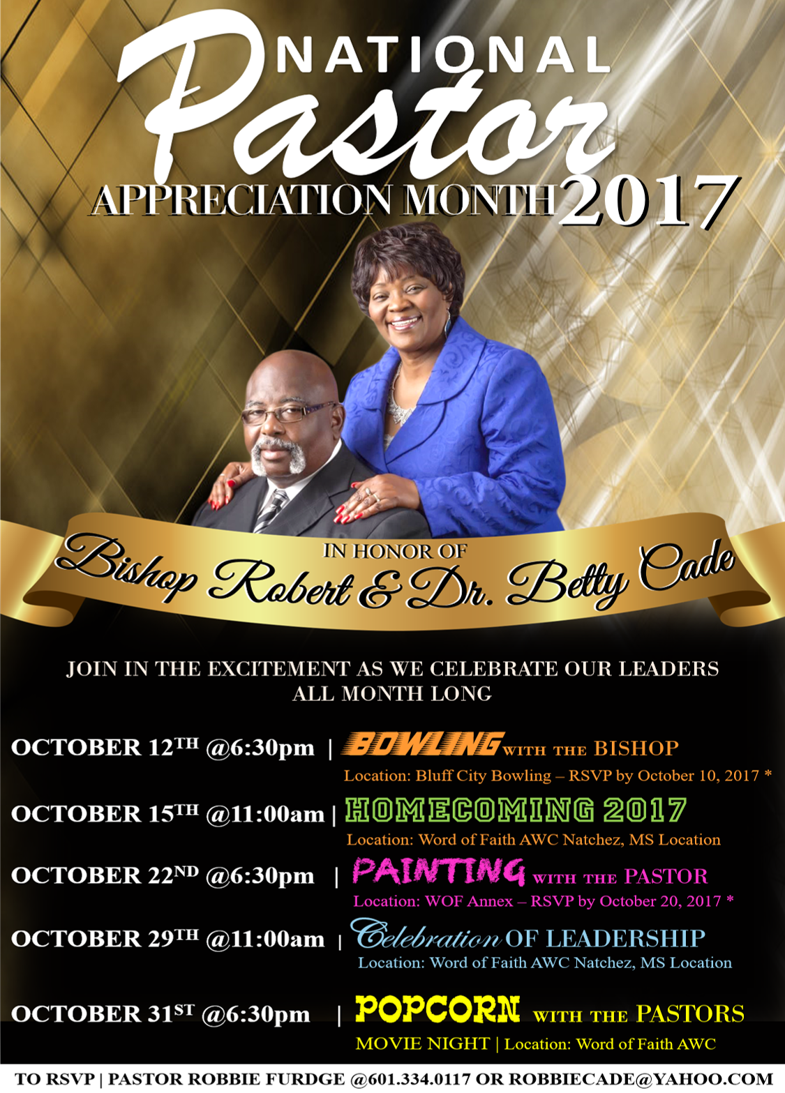 PASTOR APPRECIATION MONTH EVENT FLYER