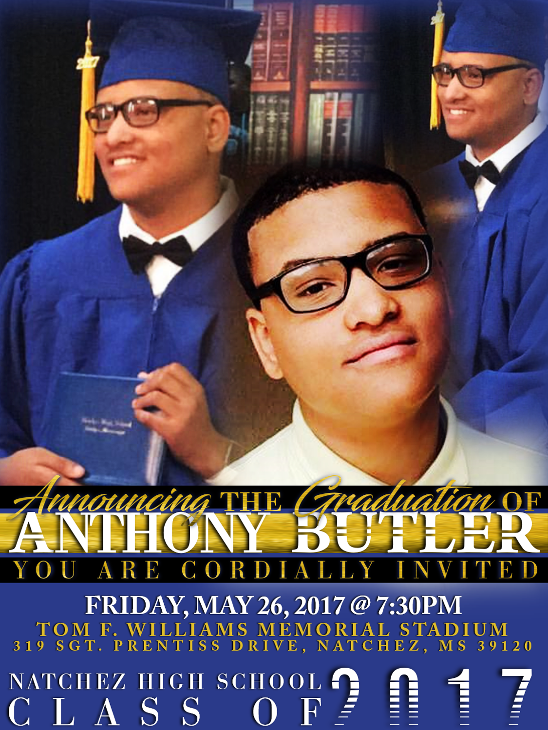 Graduation Invitation. Anthony.revised3