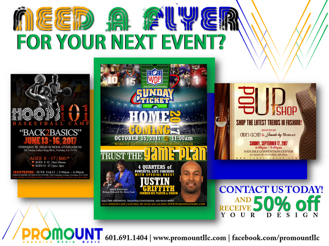 NEED A FLYER DESIGN?