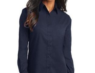 EPL632 Port Authority® Ladies Long Sleeve Value Poplin Shirt