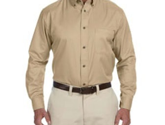 EPM500 Harriton Men's Easy Blend™ Long-Sleeve Twill Shirt with Stain-Release