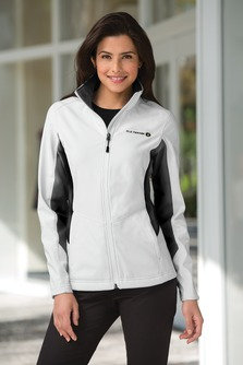 EPL318 Port Authority® Ladies Core Colorblock Soft Shell Jacket.