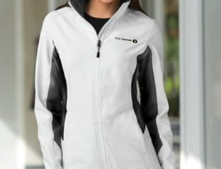 EPL318 Port Authority® Ladies Core Colorblock Soft Shell Jacket.