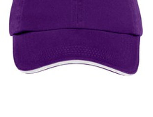 EPC830 Port Authority® Sandwich Bill Cap with Striped Closure