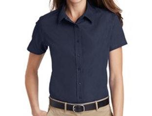 EPL633 Port Authority® Ladies Short Sleeve Value Poplin Shirt