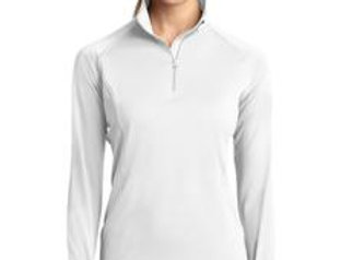 LST850 Sport-Tek® Ladies Sport-Wick® Stretch 1/2-Zip Pullover