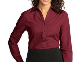 EPL640 Port Authority® Ladies Crosshatch Easy Care Shirt