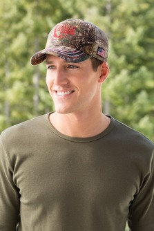 EPC909 Port Authority® Americana Contrast Stitch Camouflage Cap