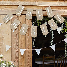 ginger ray mr and mrs hessian bunting