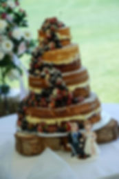 vintage wedding hire log slice cake base