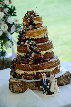 vintage wedding hire log slice cake base