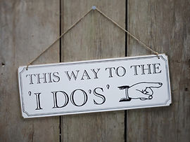 wedding party signs instagram