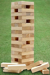 vintage wedding hire outdoor party games giant jenga
