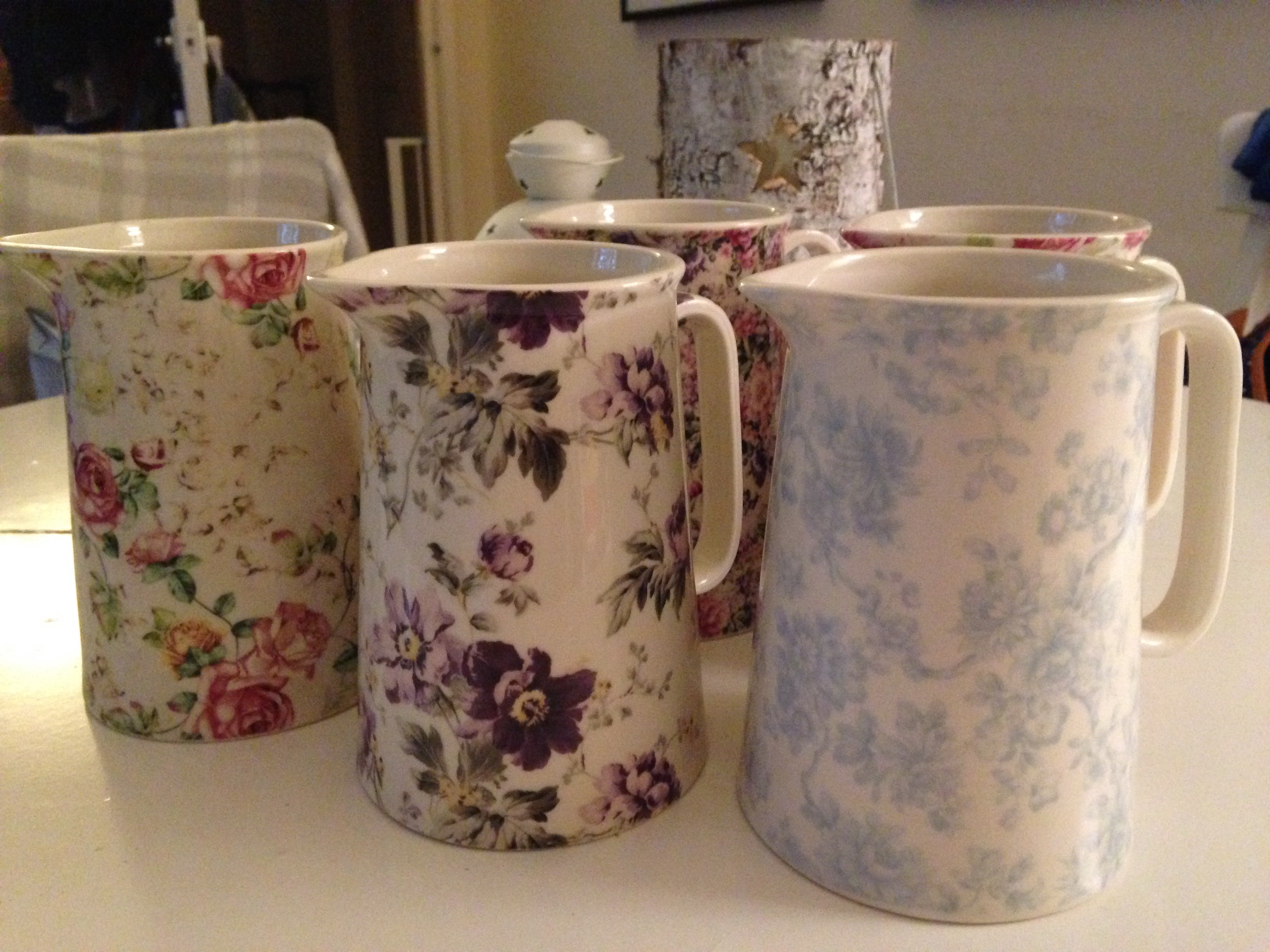 Floral Ceramic Milk Jugs