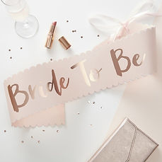 ginger ray Team Bride bride to be sash