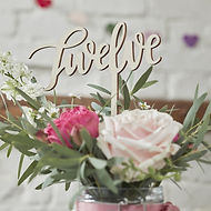 ginger ray vintage wedding hire table number frame