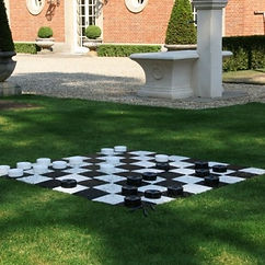 vintage wedding hire outdoor party games giant draughts